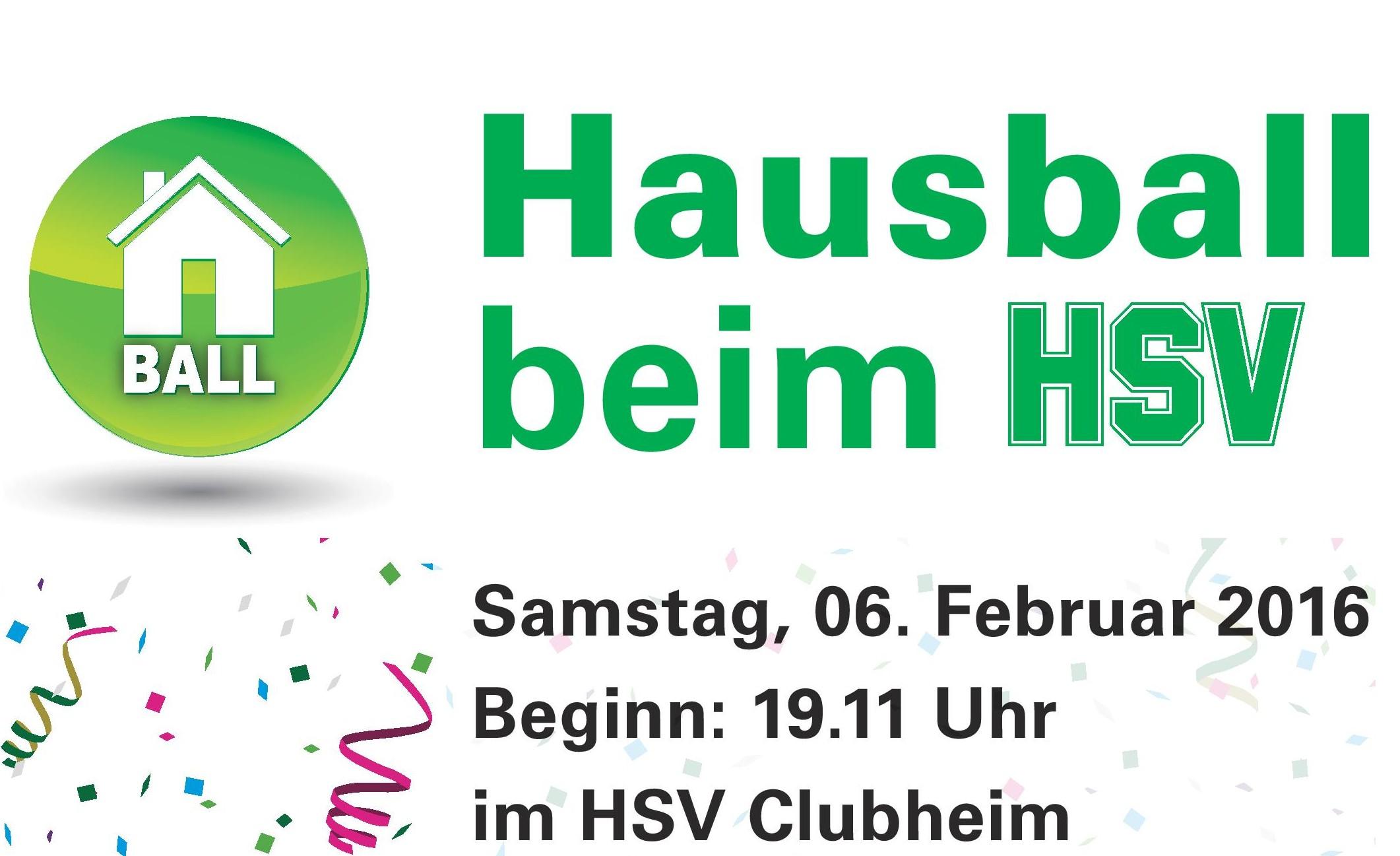 Einladung HSV Hausball 2016