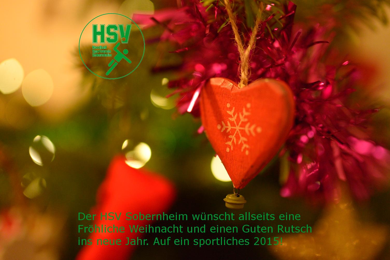 Fröhliche Weihnachten und auf ein erfolgreiches Jahr 2015!